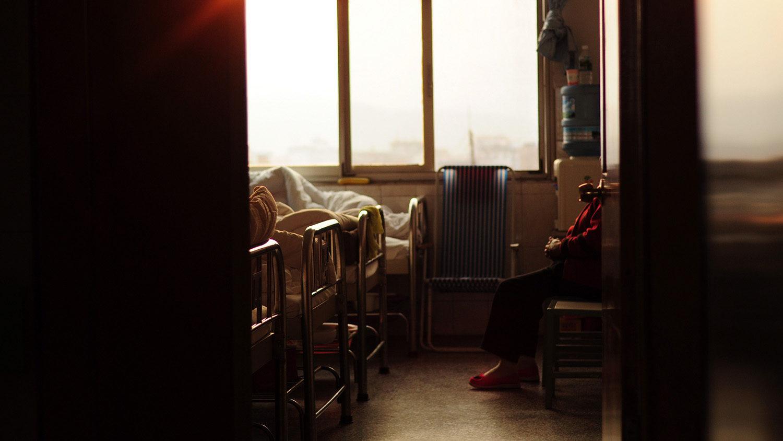 A hospital room.