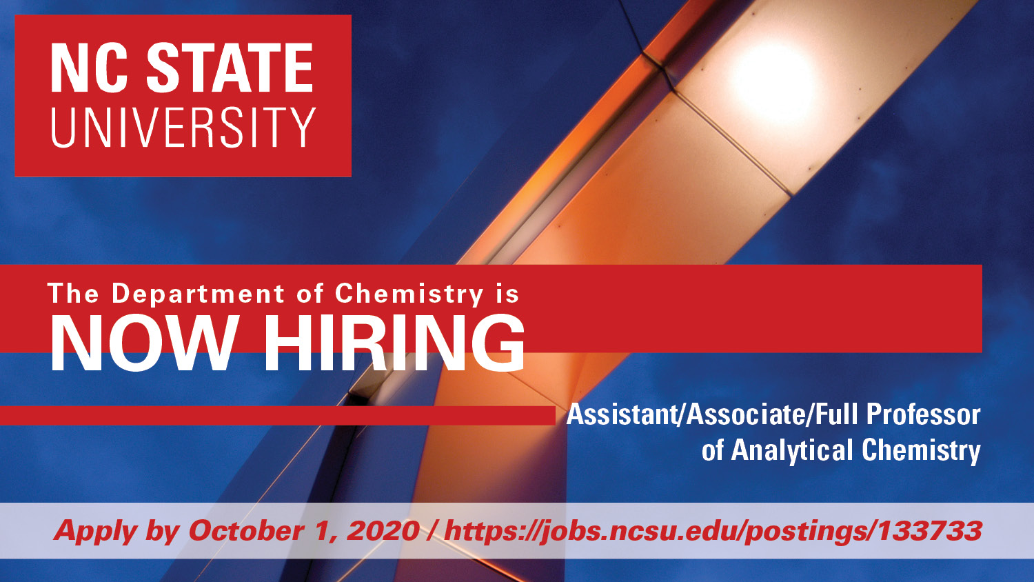 Analytical Faculty Position Search Ad, 2020