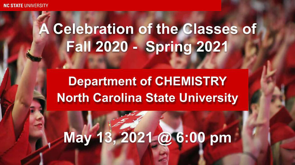 The Chemistry Graduation Ceremony 2020-2021 Opening Slide
