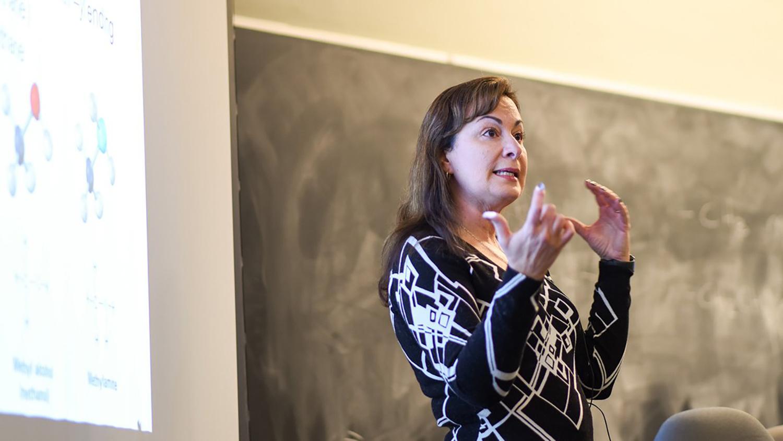 Maria Gallardo-Williams teaching in class.