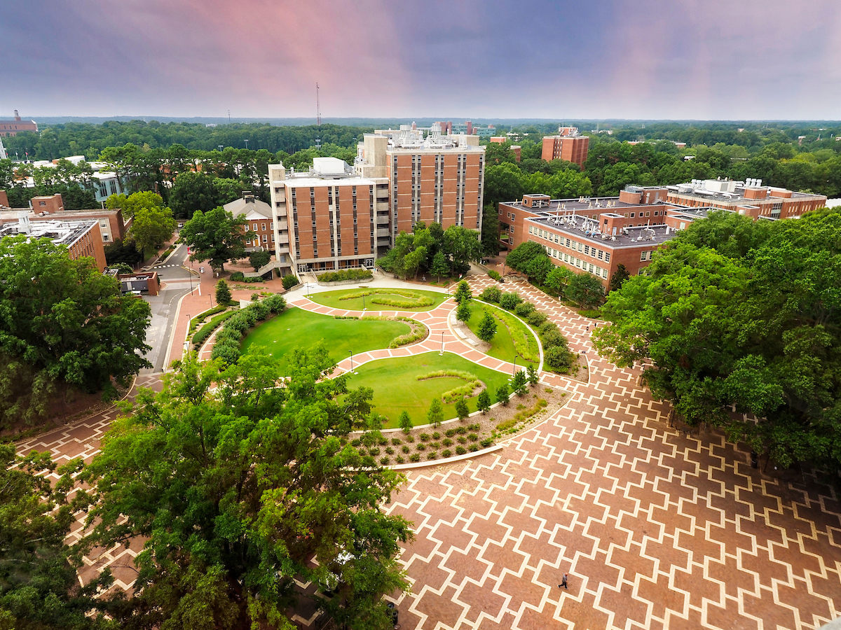 The brickyard, seen from DH Hill library. Photo by Marc Hall
