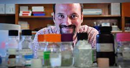 Michael Bereman in his lab