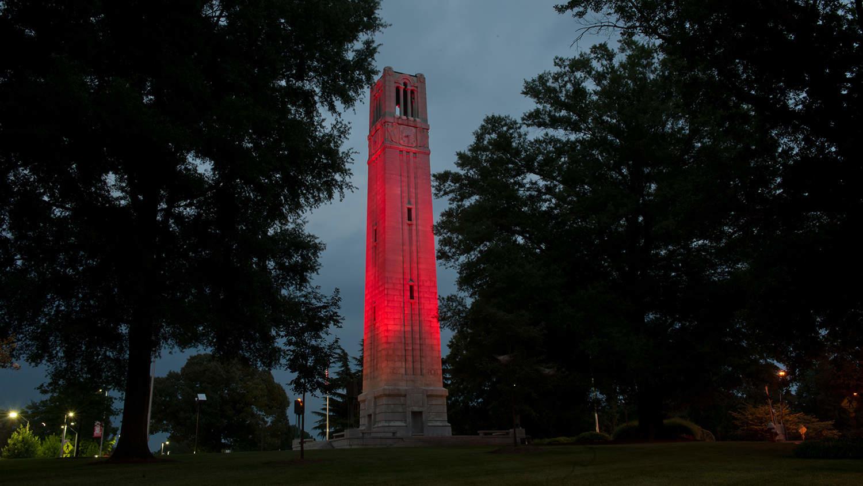 Red Belltower at dusk