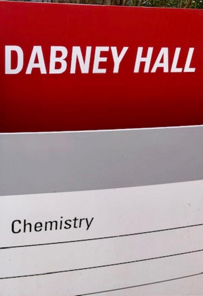 Dabney Hall Signage