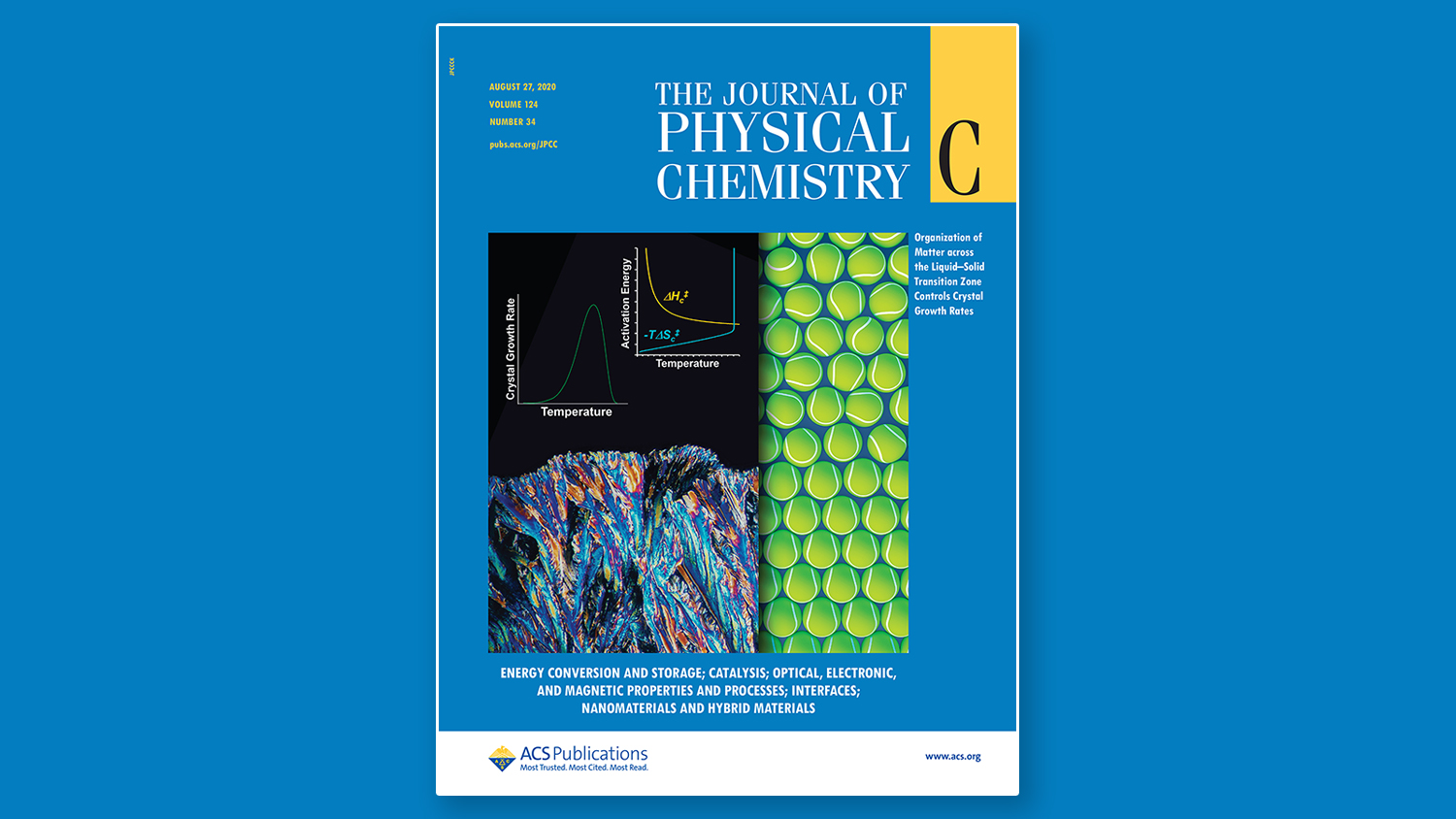 Journal of Physical Chemistry C Cover, August 2020