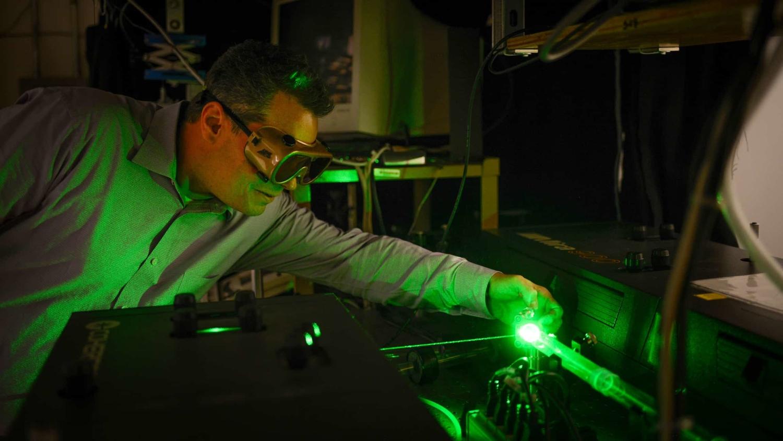 Phil Castellano in his laser lab