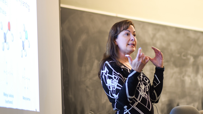 Maria Gallardo-Williams teaching her chemistry class
