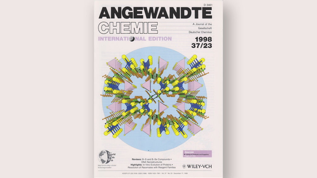A 1998 Journal Cover by James Martin Highlighting the In-Vitro Evolution of Proteins