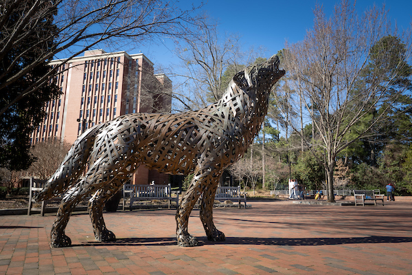 Copper Wolf at Wolf Plaza