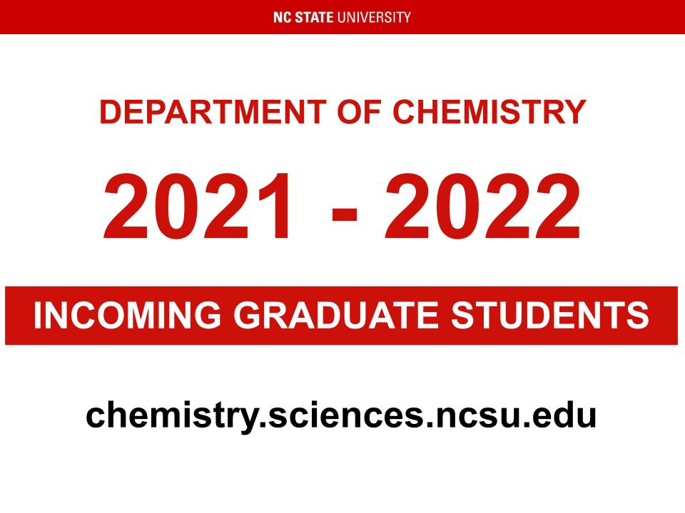 Cover slide for incoming graduate students 2021-2022