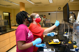 Labapalooza allowed students to get hands-on experience in labs that they participated in online during the previous academic year.