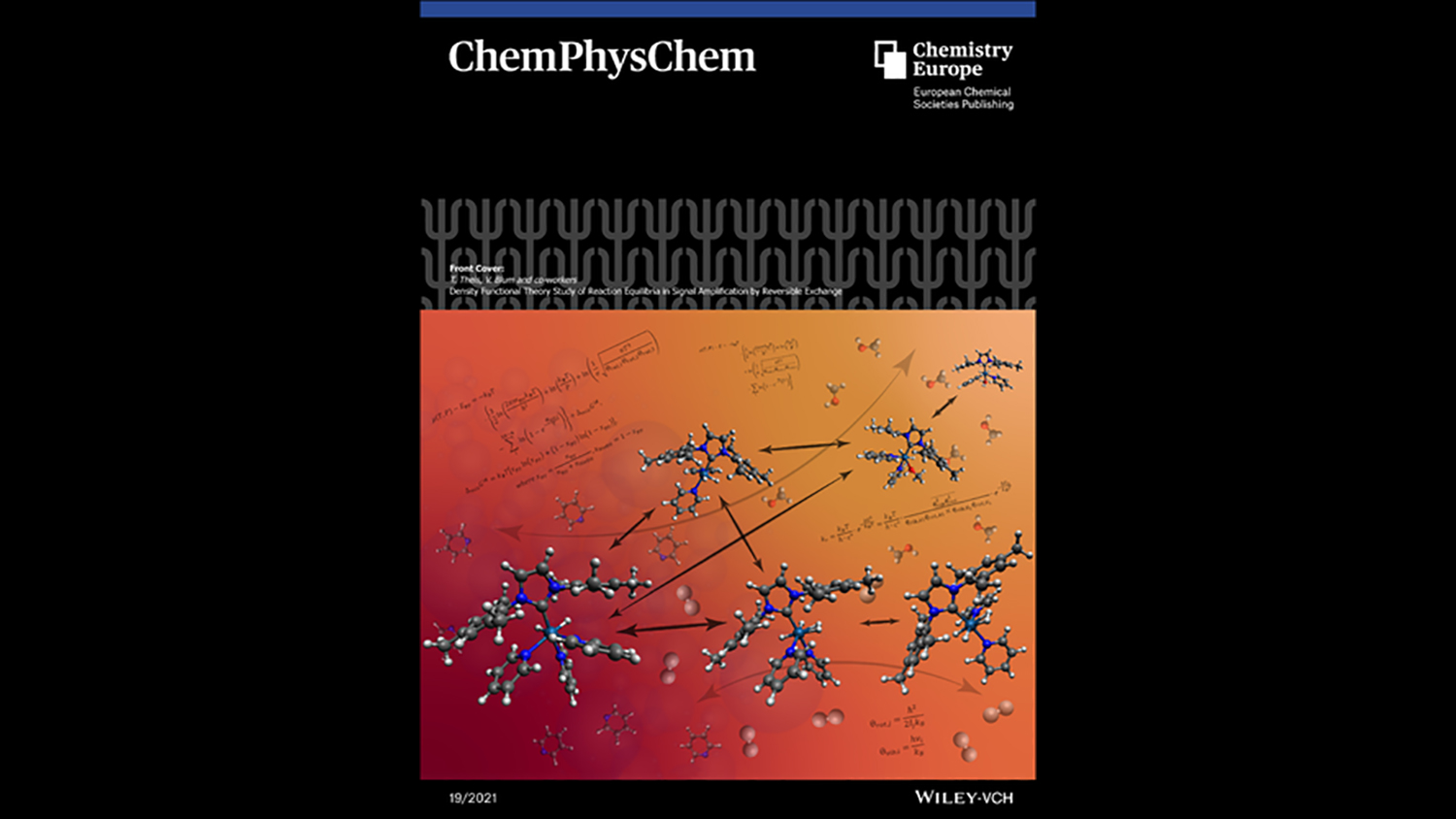The Front Cover shows the reaction network of Signal Amplification by Reversible Exchange (SABRE), elucidated by density functional theory (DFT).